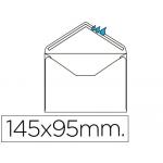 Sobre Liderpapel Nº 1 color blanco minimo normalizado 95x145 mm engomado solapa de pico caja de 500 unidades