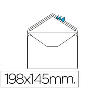 Liderpapel SB12 - Sobre Oficio prolongado , tamaño 145 x 198 mm, solapa pico engomada, color blanco, caja de 500 unidades