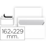 Liderpapel SB84 - Sobre C5, tamaño 162 x 229 mm, solapa tira de silicona, color blanco, paquete de 25 unidades