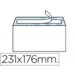 Sobre Liderpapel Nº 12 color blanco tamaño cuarto 176x231 mm tira de silicona caja de 500 unidades
