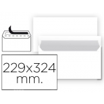 Sobre Liderpapel Nº 14 color blanco c4 229x324 mm tira de silicona paquete de 25 unidades
