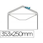 Sobre Liderpapel Nº 15 color blanco tamaño folio prolongado 250x353 mm engomado caja de 250 unidades