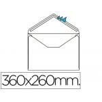 Sobre Liderpapel Nº 16 color blanco tamaño folio especial 260x360 mm engomado caja de 250 unidades solapa de pico