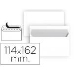 Sobre Liderpapel Nº 19 color blanco c6 114x162 mm tira de silicona paquete de 25 unidades