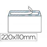 Liderpapel SB05 - Sobre Americano, tamaño 110 x 220 mm, solapa tira de silicona, color blanco, caja de 500 unidades