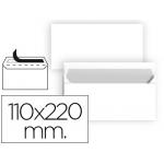Liderpapel SB86 - Sobre Americano, tamaño 110 x 220 mm, solapa tira de silicona, color blanco, paquete de 25 unidades