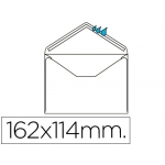 Liderpapel SB23 - Sobre C6, tamaño 114 x 162 mm, solapa pico engomado, color blanco, caja de 500 unidades