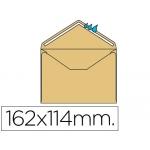 Sobre Liderpapel Nº 23 color crema c6 114x162 mm engomado solapa de pico caja de 500 unidades