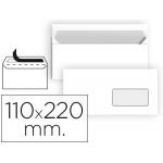 Sobre Liderpapel Nº 3 color blanco americano ventana derecha 110x220 mm tira de silicona paquete de 25 unidades