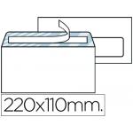 Sobre Liderpapel Nº 3 color blanco americano ventana derecha 110x220 mm tira de silicona system open caja de 500