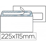 Liderpapel SB07 - Sobre Americano, ventana derecha, tamaño 115 x 225 mm, solapa tira de silicona, color blanco, caja de 500 unidades