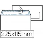 Sobre Liderpapel Nº 4 color blanco americano ventana derecha 115x225 mm tira de silicona open system caja de 500