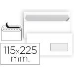 Liderpapel SB90 - Sobre Americano, ventana derecha, tamaño 115 x 225 mm, solapa tira de silicona, color blanco, paquete de 25 unidades