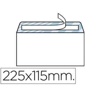 Liderpapel SB36 - Sobre Americano, tamaño 115 x 225 mm, solapa tira de silicona, color blanco, caja de 500 unidades