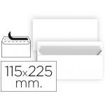 Liderpapel SB89 - Sobre Americano, tamaño 115 x 225 mm, solapa tira de silicona, color blanco, paquete de 25 unidades