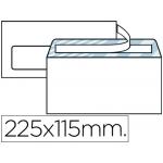 Sobre Liderpapel Nº 6 color blanco americano ventana izquierda 115x225 tira de silicona open system caja de 500