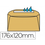 Sobre Liderpapel Nº 8 color crema comercial normalizado 120x176 mm engomado caja de 500 unidades