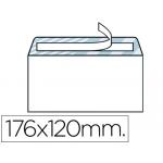 Liderpapel SB11 - Sobre Comercial normalizado, tamaño 120 x 176 mm, solapa tira de silicona, color blanco, caja de 500 unidades