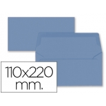 Liderpapel SB70 - Sobre Americano, tamaño 110 x 220 mm, solapa engomada, color azul oscuro, paquete de 9 unidades