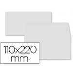 Liderpapel SB61 - Sobre Americano, tamaño 110 x 220 mm, solapa engomada, color blanco, paquete de 9 unidades