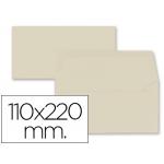 Liderpapel SB62 - Sobre Americano, tamaño 110 x 220 mm, solapa engomada, color crema, paquete de 9 unidades