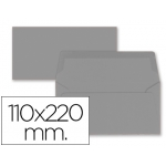 Sobre Liderpapel americano color gris 110x220 mm 80 gr pack de 9 unidades