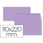 Liderpapel SB68 - Sobre Americano, tamaño 110 x 220 mm, solapa engomada, color lila, paquete de 9 unidades