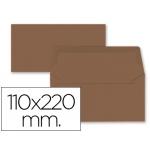 Sobre Liderpapel americano color marron 110x220 mm 80 gr pack de 9 unidades