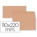 Liderpapel SB64 - Sobre Americano, tamaño 110 x 220 mm, solapa engomada, color naranja, paquete de 9 unidades