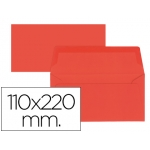 Sobre Liderpapel americano color rojo 110x220 mm 80 gr pack de 9 unidades