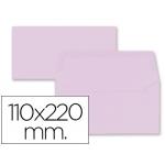Liderpapel SB65 - Sobre Americano, tamaño 110 x 220 mm, solapa engomada, color rosa palido, paquete de 9 unidades