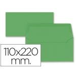 Liderpapel SB69 - Sobre Americano, tamaño 110 x 220 mm, solapa engomada, color verde acebo, paquete de 9 unidades