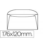 Liderpapel SB41 - Sobre Comercial normalizado, tamaño 120 x 176 mm, solapa engomada, color blanco, paquete de 10 unidades