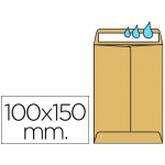 Liderpapel SB46 - Bolsa Salarios, tamaño 100 x 150 mm, solapa engomada, color kraft, caja de 500 unidades