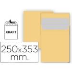 Sobre Liderpapel bolsa Nº 11 kraft tamaño folio prolongado 250x353 mm tira de silicona paquete de 25 unidades