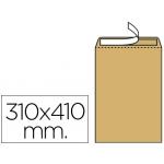 Sobre Liderpapel bolsa Nº 13 kraft 310x410 mm tira de silicona caja de 100 unidades