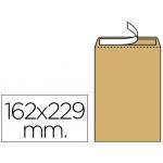Sobre Liderpapel bolsa Nº 5 kraft c5 162x229 mm tira de silicona caja de 500 unidades
