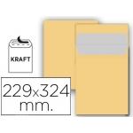 Sobre Liderpapel bolsa Nº 7 kraft c4 229x324 mm tira de silicona paquete de 25 unidades