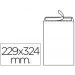 Liderpapel SB34 - Bolsa C4, tamaño 229 x 324 mm, solapa tira de silicona, color blanco, caja de 250 unidades