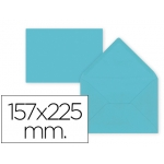 Sobre Liderpapel c5-etamano A5 color azul celeste 157x225 mm 80 gr pack de 9 unidades