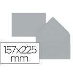 Sobre Liderpapel c5-etamano A5 color gris 157x225 mm 80 gr pack de 9 unidades