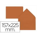 Liderpapel SB98 - Sobre C5, tamaño 157 x 225 mm, solapa pico engomada, color marrón, paquete de 9 unidades