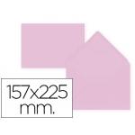 Liderpapel SB77 - Sobre C5, tamaño 157 x 225 mm, solapa pico engomada, color rosa palido, paquete de 9 unidades