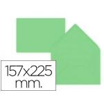 Sobre Liderpapel c5-etamano A5 color verde 157x225 mm 80 gr pack de 9 unidades
