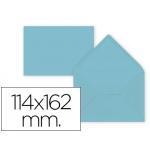Liderpapel SB29 - Sobre C6, tamaño 114 x 162 mm, solapa pico engomada, color azul celeste, paquete de 15 unidades