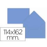 Liderpapel SB58 - Sobre C6, tamaño 114 x 162 mm, solapa pico engomada, color azul oscuro, paquete de 15 unidades