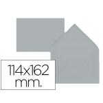 Liderpapel SB60 - Sobre C6, tamaño 114 x 162 mm, solapa pico engomada, color gris , paquete de 15 unidades