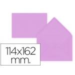 Liderpapel SB38 - Sobre C6, tamaño 114 x 162 mm, solapa pico engomada, color lila, paquete de 15 unidades