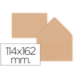Liderpapel SB30 - Sobre C6, tamaño 114 x 162 mm, solapa pico engomada, color naranja, paquete de 15 unidades