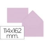 Liderpapel SB31 - Sobre C6, tamaño 114 x 162 mm, solapa pico engomada, color rosa palido, paquete de 15 unidades